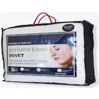 Restmor Duck Feather and Down 13.5 Tog Duvet - White - Double