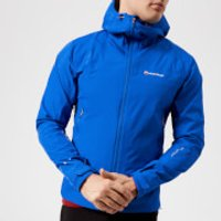 Montane Men's Atomic Jacket - Electric Blue/Authentic Orange - L - Blue