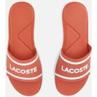 Lacoste Womens L.30 118 1 Slide Sandals - Pink/White - UK 5 - Pink