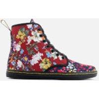 Dr. Martens Womens Shoreditch FC Floral Mix Canvas Lace Low Boots - Multi - UK 6.5 - Multi