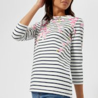 Joules Women's Harbour Print Jersey Top - Navy Blossom Stripe - UK 8 - Navy