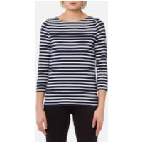 Joules Womens Harbour Jersey Top - Stripe French Navy - UK 14 - Navy