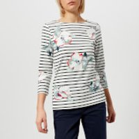 Joules Women's Harbour Print Jersey Top - Cream Poppy - UK 10 - Cream