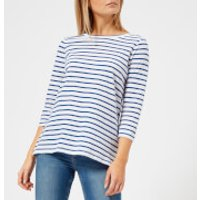 Joules Women's Soleil Stripe Layering Top - Navy Stripe - UK 12 - Navy