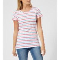 Joules Women's Nessa Stripe Jersey T-Shirt - Blue Red Stripe - UK 10 - Blue