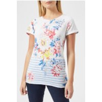 Joules Women's Nessa Printed Jersey T-Shirt - Stripe Whistable Floral - UK 8 - Multi