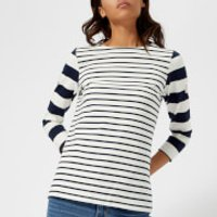 Joules Women's Harbour Jersey Top - Navy Wide Stripe - UK 10 - Navy