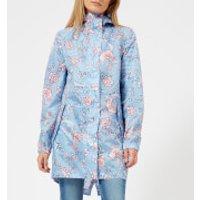 Joules Womens Golightly Waterproof Packaway Jacket - Blue Indienne Floral - UK 10 - Blue