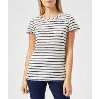 Joules Women's Nessa Stripe Jersey T-Shirt - Cream Navy Stripe - UK 10 - Cream