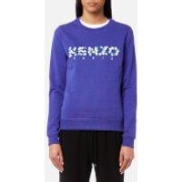 KENZO Women's Light Cotton Molleton Paisley Logo Sweatshirt - French Blue - S - Blue