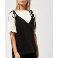 KENZO Women's Soft Crepe T-Shirt Cami Top - Black - UK 10/EU 38 - Black