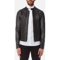 Versace Collection Mens Perforated Leather Jacket - Nero - 52/XL - Black