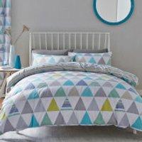 Catherine Lansfield Geo Triangles Duvet Set - King - Multi