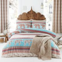 Catherine Lansfield Elephant Duvet Set - Single - Multi - Bedding Gifts