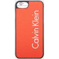 Calvin Klein Womens Fluid Click On Shell iPhone 7 Case - Burnt Orange