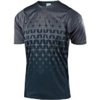 Troy Lee Designs Terrain Megaburst Jersey - Grey/Navy - L - Grey/Blue