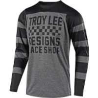 Troy Lee Designs Skyline Long Sleeve Checker Jersey - Grey/Black - S - Grey/Black
