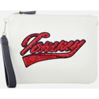 Tommy Hilfiger Womens Mix and Match Canvas Pouch - Snow White