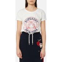 Superdry Womens Jamie Boyfriend T-Shirt - Alumni Cream - M - White