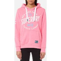 Superdry Women's City of Dreams Hooded Sweatshirt - Fluro Pink Snowy - M - Pink
