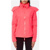 Superdry Womens Hooded Cliff Hiker Jacket - Coral Punch/Deep Marine - XS - Orange