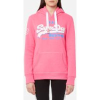 Superdry Women's Vintage Logo Tri Entry Hooded Sweatshirt - Snowy Pink - M - Pink
