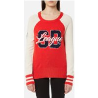Superdry Womens Team SD Varsity Knitted Jumper - Tailgate Red - XS - Red