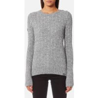 Superdry Womens Croyde Cable Knitted Jumper - Gamma Grey Marl - M - Grey