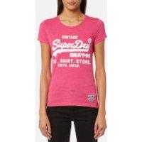 Superdry Women's Shirt Shop Overdyed Entry T-Shirt - Fluro Pink - XS - Pink