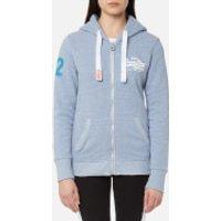 Superdry Womens Vintage Logo Ziphood Sweatshirt - Snowy Cali Blue - M - Blue