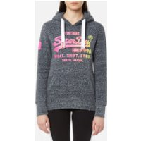 Superdry Womens Shirt Shop Fade Hoody - Eclipse Navy Snowy - L - Navy