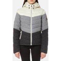 Superdry Women's Fuji Chevron Mix Hooded Jacket - Grey Mix - L - Grey