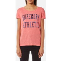 Superdry Women's Athletic Slim Boyfriend T-Shirt - Cheerleader Pink - XS - Pink