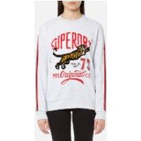 Superdry Womens Original Tiger Crew Sweatshirt - Ice Grey - M - Grey