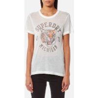 Superdry Womens Olivia Collegiate T-Shirt - Alumni Cream - S - Cream