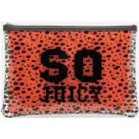 Juicy Couture Zoey Large Pouch Bag - Vinyl/orange
