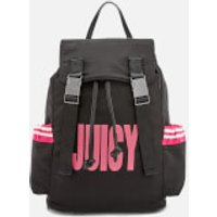 Juicy Couture Womens Kinney Multi Pocket Backpack - Black/Pink