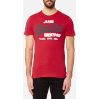 Superdry Mens Vintage Logo Duo T-Shirt - Indiana Red - L - Red