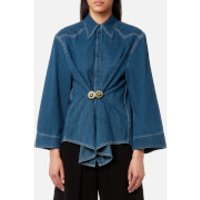 MM6-Maison-Margiela-Womens-Denim-Shirt-Medium-Blue-IT-42UK-10-Blue