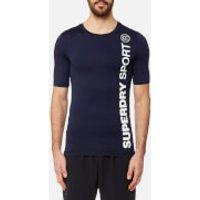 Superdry Mens Sport Athletic Short Sleeve T-Shirt - Rich Navy - M - Navy