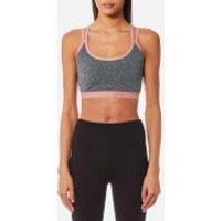 Superdry Women's Sport Studio Cross Back Bra - Speckle Charcoal - XS - Grey