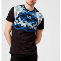 Versace Jeans Mens Neck Print T-Shirt - Nero - XL - Black
