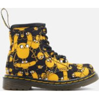 Dr. Martens Toddlers' Brooklee Canvas Jake Print Lace Low Boots - Black/Yellow - UK 5.5 Toddler - Bl