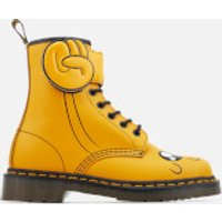 Dr. Martens Toddlers' Jake Boot Smooth and Synthetic PU Lace Low Boots - Yellow - UK 8 Toddler - Whi