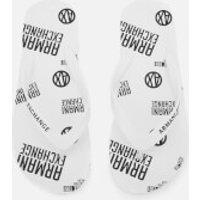 Armani Exchange Mens AX Flip Flops - Bianco - UK 10.5 - White