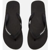 Armani Exchange Men's Solid Flip Flops - Nero - UK 7.5 - Black