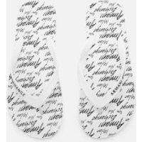 Armani Exchange Armani Exchange Men's AX Flip Flops - AX All Over White - UK 10.5 - White