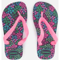 Havaianas Kids Flores Flip Flops - New Purple - EU 33-34/UK 1-2 Kids - Purple