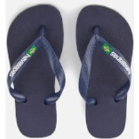 Havaianas Kids Brasil Logo Flip Flops - Navy Blue - EU 27-28/UK 10-11 Kids - Navy