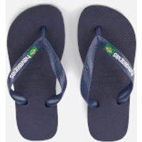 Havaianas Kids' Brasil Logo Flip Flops - Navy Blue - EU 31-32/UK 13 Kids - Navy